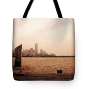 world Trade Center From Pier Tote Bag