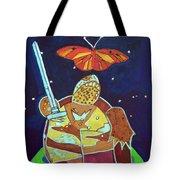 World Turtle King Of Swords Tote Bag