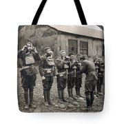 World War I: Gas Masks Tote Bag