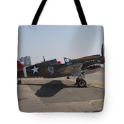 World War II Plane P-40 Thunderbolt Tote Bag