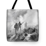 World War Two Battle By John Springfield Tote Bag