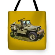 World War Two - Willys - Army Jeep  Tote Bag