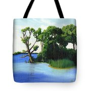 Worlds Away Off The Wye River Tote Bag