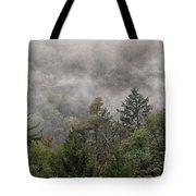 Worlds End State Park Fog Tote Bag