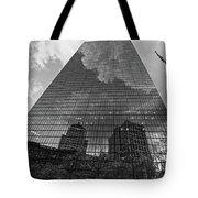 World's Largest Canvas John Hancock Tower Boston Ma Black And White Tote Bag