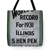 World's Record Tote Bag
