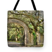 Wormsloe Gate Tote Bag
