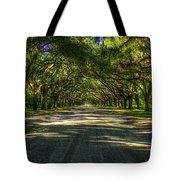 Shadows Of Wormsloe Plantation Oak Avenue Georgia Art Tote Bag