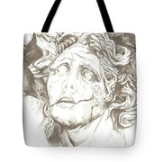 Worn Face Tote Bag