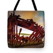 Worn Rusting Shipwreck Tote Bag