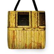 Worn Yellow Passanger Car Tote Bag