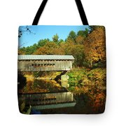 Worrall's Bridge Vermont - New England Fall Landscape Covered Bridge Tote Bag