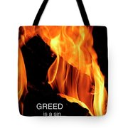 worthy of HELL fire Tote Bag