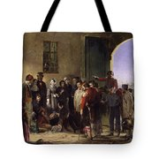 Wounded At Scutari A Portrait By Jerry Barrett Tote Bag