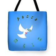 Wounded Dove Symbol Of Peace  Tote Bag