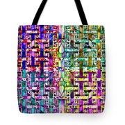 Woven Abstract Tote Bag