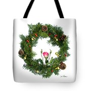 Wreath With Rose Tote Bag