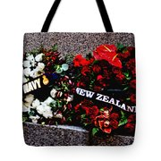 Wreaths From New Zealand And Our Navy Tote Bag