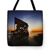 Wreck Of The Peter Iredale-b Tote Bag