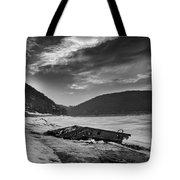 Wreck On The Lake Tote Bag