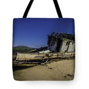 Wrecked On A Sand Bar Tote Bag
