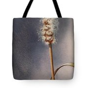 Wren And Cattails Tote Bag