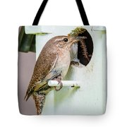 Wren Bringing Home The Bacon Tote Bag