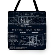 Wright Bros Flyer Aeroplane Blueprint  1903 Tote Bag