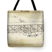 Wright Brothers Flying Machine Patent 1903 Tote Bag