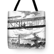Wright Brothers Plane Tote Bag