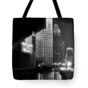 Wrigley And Tribune Buildings Tote Bag