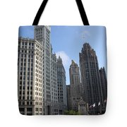 Wrigley And Tribune Tower Tote Bag