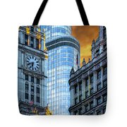 Wrigley Building And Trump Tower Dsc0540 Tote Bag