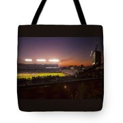 Wrigley Field At Dusk Tote Bag by Sven Brogren