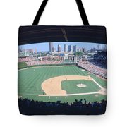 Wrigley Field, Chicago, Cubs V Tote Bag