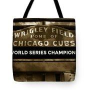 Wrigley Field Sign - Vintage Tote Bag