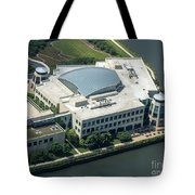 Wrigley Global Innovation Center In Chicago Aerial Photo Tote Bag