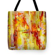 Written In Particles And Waves Tote Bag