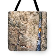 Written Prayers Tucked Into Cracks Western Wall Jerusalem Tote Bag