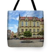 Wroclaw Market Square, New Town Hall And Tenement Houses Tote Bag