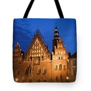 Wroclaw Old Town Hall At Night Tote Bag
