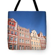 Wroclaw Old Town Houses Tote Bag