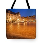 Wroclaw Old Town Market Square At Night Tote Bag