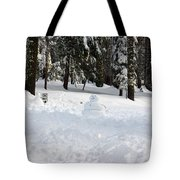Wrong Way Snowman Tote Bag