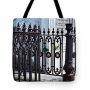 Wrought Iron Cemetery Fence Tote Bag