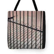 Wrought-iron Gate And Shadows Tote Bag