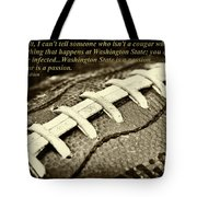 Wsu Cougar Quote Tote Bag