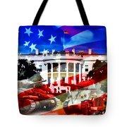 Ww2 Usa White House Tote Bag