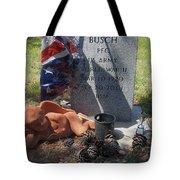 Ww2 Veterans Grave Mountain View Cemetery Casa Grande, Arizona 2004 Tote Bag