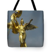 Wwi Gold Winged Victory Statue Tote Bag